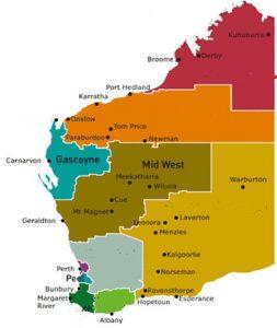 DOL regions map